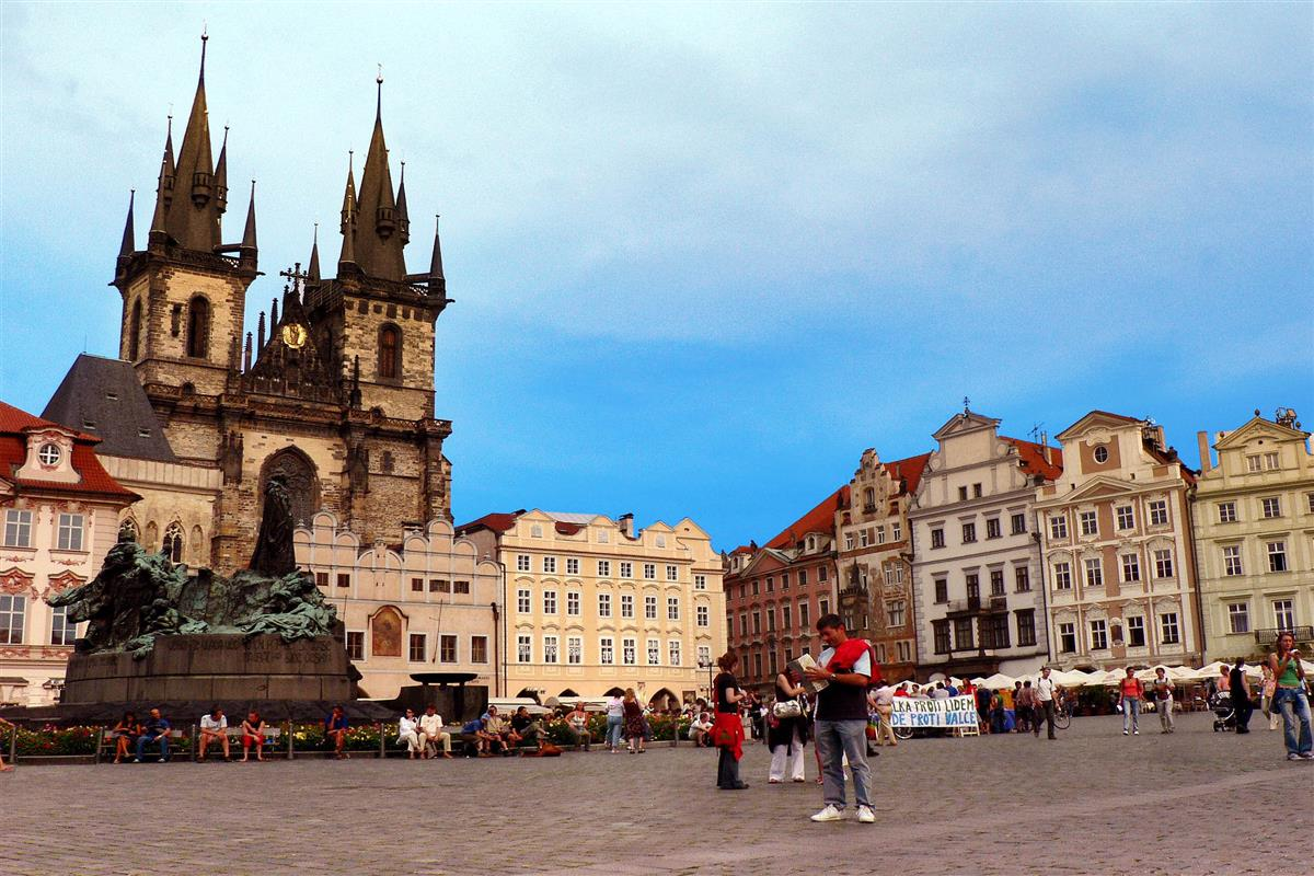 Eastern europe imperial cities tour for Prague square