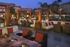 Cairo's Ritz Carlton Hotel Patio