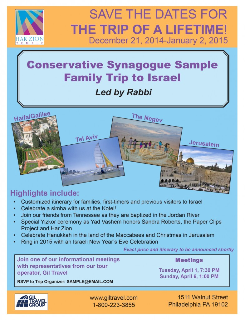 Conservative Sample flier