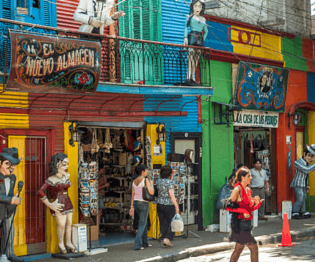 buenos aires tourism, colorful buildings