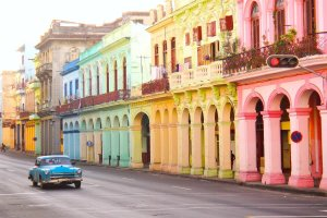 Havana's colorful facades