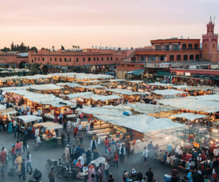 morocco open air market square