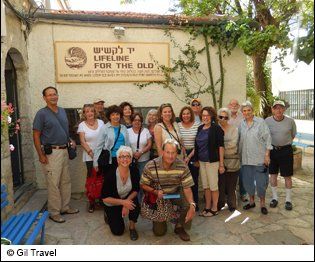 active senior israel tour, lifeline for the old group photo